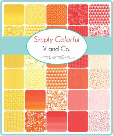 Simply Colorful by V and Co. - Junior Layer Cake in Red (10840JLCR)