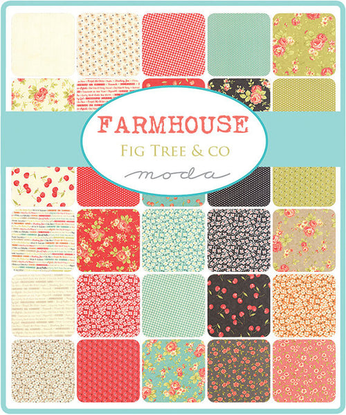 Farmhouse by Fig Tree - Gingham Blossoms in Pebble (20255-15)