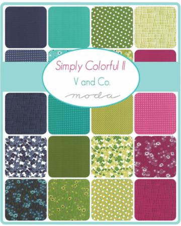 Simply Colorful II by V and Co. - Junior Layer Cake in Green (10850JLCG)