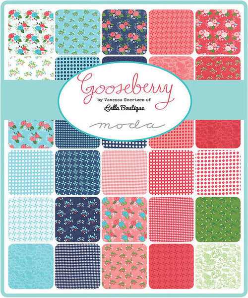 Gooseberry by Lella Boutique - Polka Dots in Cloud Leaf (5013-21)