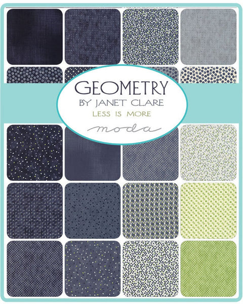 Geometry by Janet Clare - Charm Pack (1490PP)