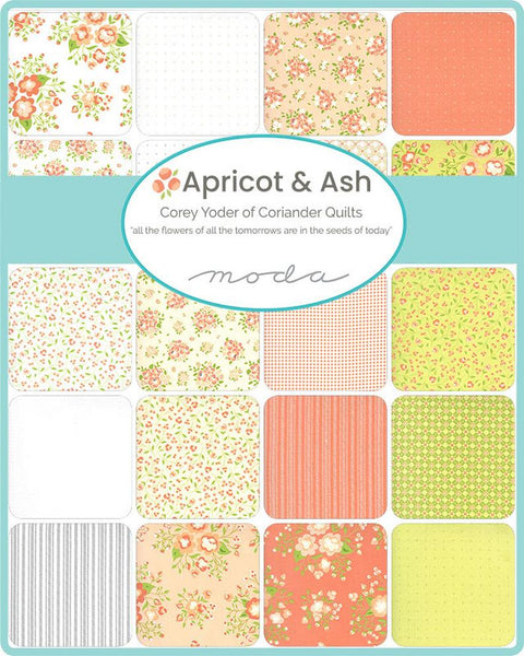 Apricot & Ash by Corey Yoder - Ticking Stripe in Cloud (29107-21)