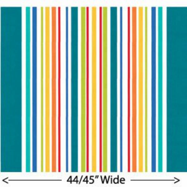 Big Stripe by Michael Miller - Big Stripe in Turquoise (DC5484-TURQ-D)