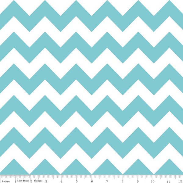 Chevrons by Riley Blake Designs - Medium Aqua (C320-20)