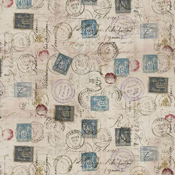 Eclectic Elements by Tim Holtz - Correspondence in Taupe (PWTH021.TAUPE)