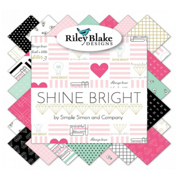 Shine Bright by Simple Simon & Company - Shine Made to Sparkle in Pink (C6662-PINK)