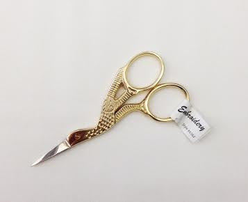 "Gold - Stork 3.5"" Embroidery Scissors"