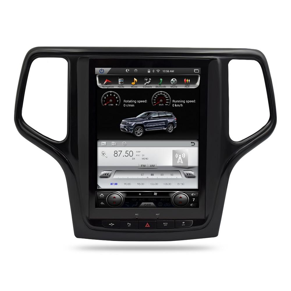 "For 2013-2018 Jeep Grand Cherokee 10.4"" Tesla-Style Radio Stereo Android GPS NAVI in-Dash Unit Bluetooth Wi-Fi - CARSOLL"