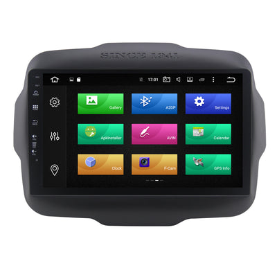 For 2014 - 2018 Jeep Renegade 4GB+32GB Android 9 Touchscreen Radio Bluetooth GPS Navigation Head Unit Stereo - CARSOLL