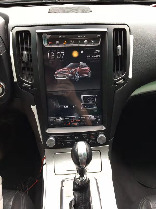"For 2007-2015 Infiniti G25 G35 G37 Q40 Q60 12.1"" T-Style Android Radio Stereo GPS NAVI in-Dash Unit Bluetooth Wi-Fi - CARSOLL"