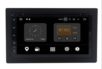 Universal radio 4GB+32GB Android 8 6.95 Inch Touchscreen Radio Bluetooth GPS Navigation Head Unit Stereo with DVD slot - CARSOLL