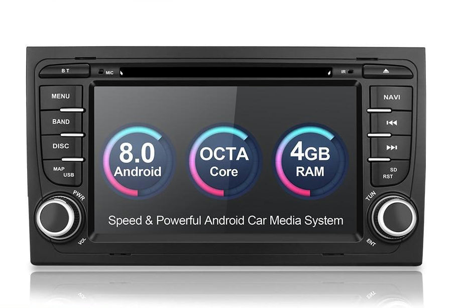 2002-2008 Audi A4 S4 multimedia player Android 8.0 GPS Car Autoradio Stereo System Octa Core 4GB RAM wifi Car DVD Player - CARSOLL