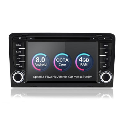 For 2002-2013 Audi A3 S3  Car Multimedia player Android 8.0 GPS 2 Din Autoradio Stereo System Octa Core 4GB RAM wifi Car DVD Player - CARSOLL
