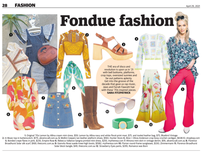 Fondue Fashion Spread: Western Suburbs Weekly