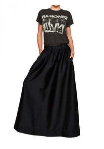 Luxe Full Skirt Black - Empire Rose