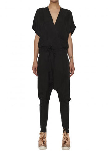 Sports Luxe Jumpsuit Black - Empire Rose