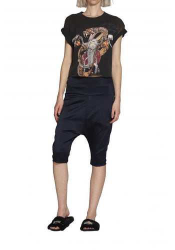 Luxe Highrise Shorts Navy - Empire Rose