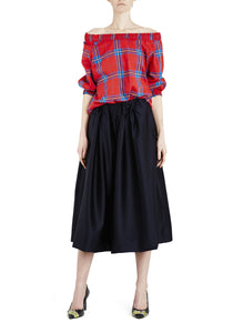 Luxe Midi Skirt Navy