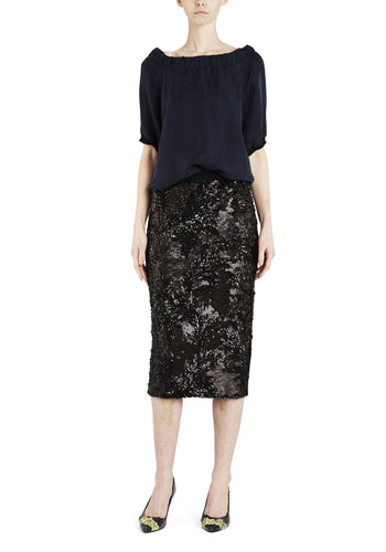 Sequin Skirt Black - Empire Rose
