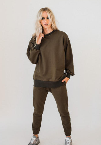 Olympia Sweat Top KHAKI