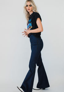 Stretch Denim Flares Indigo