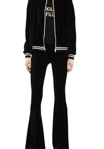 Stretch Velvet Track Jacket