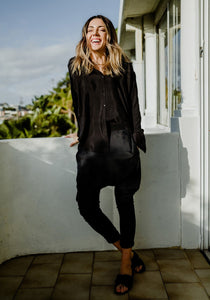 Luxe Loose Pants Black