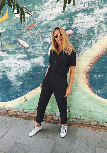 Denim Slouch Jumpsuit