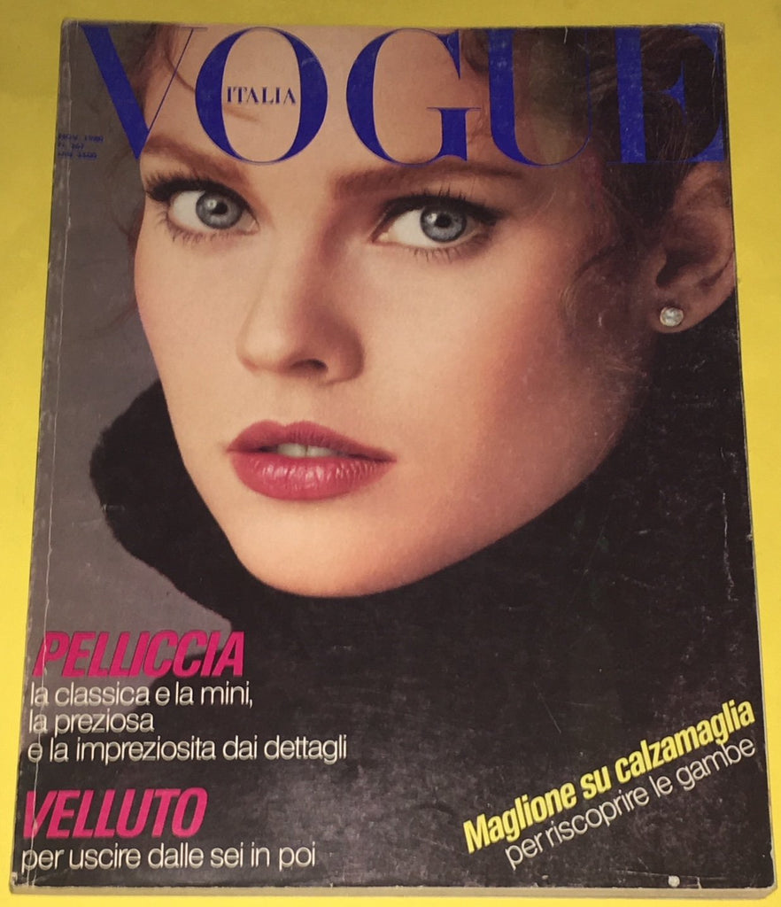 VOGUE Italia Magazine November 1980 CAROL ALT Marie Helvin DAVID BAILEY Fur Pelz