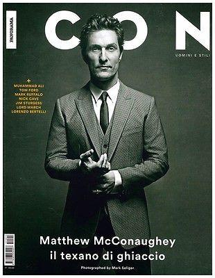 ICON Magazine 2014 MATTHEW McCONAUGHEY Werner Schreyer JIM STURGESS
