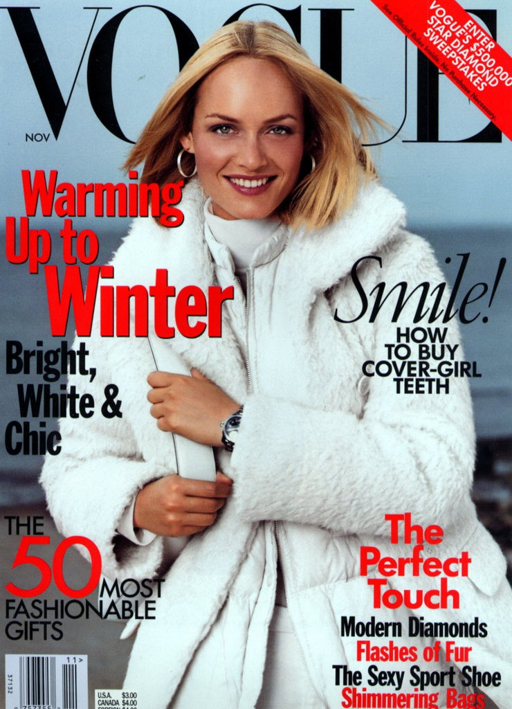 VOGUE US Magazine November 1998 AMBER VALLETTA Kate Moss HELMUT NEWTON