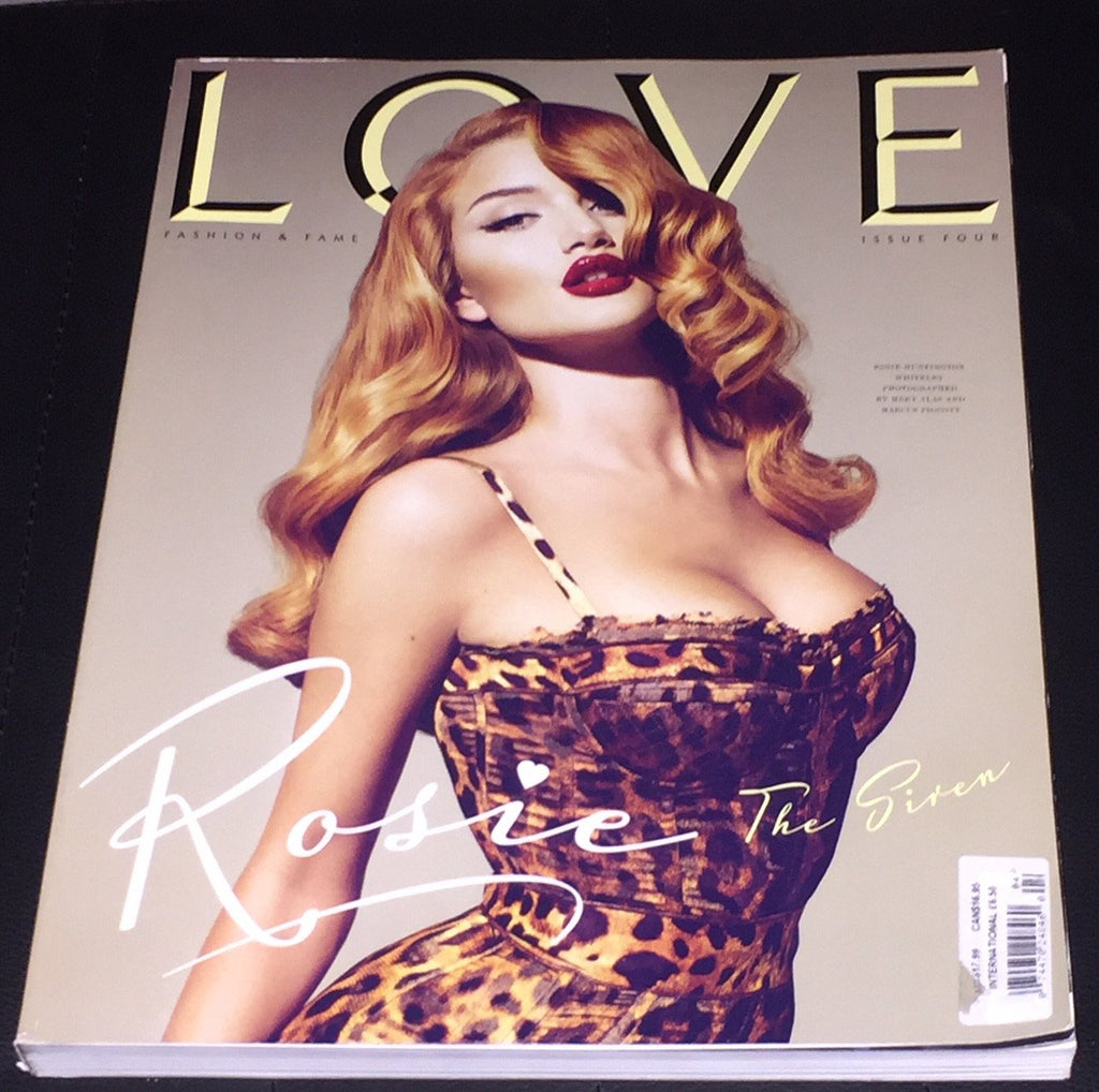 LOVE Magazine #4 2010 ROSIE HUNTINGTON Brooke Shields LAETITIA CASTA