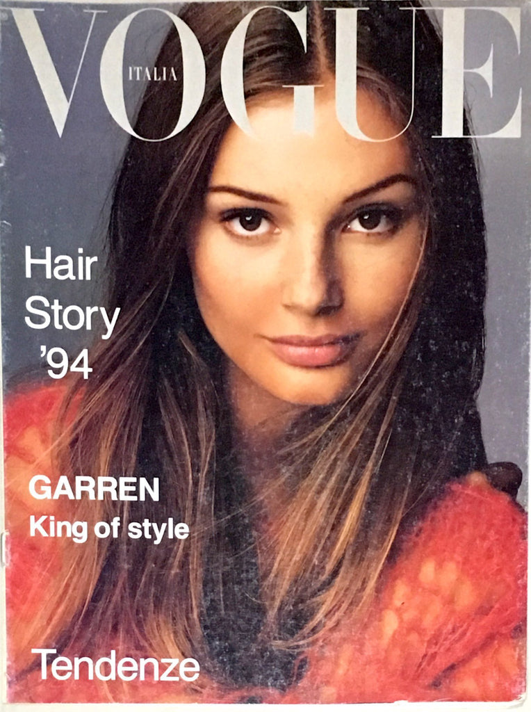VOGUE Italia Hair Magazine JANUARY 1994 BRIDGET HALL Steven Meisel