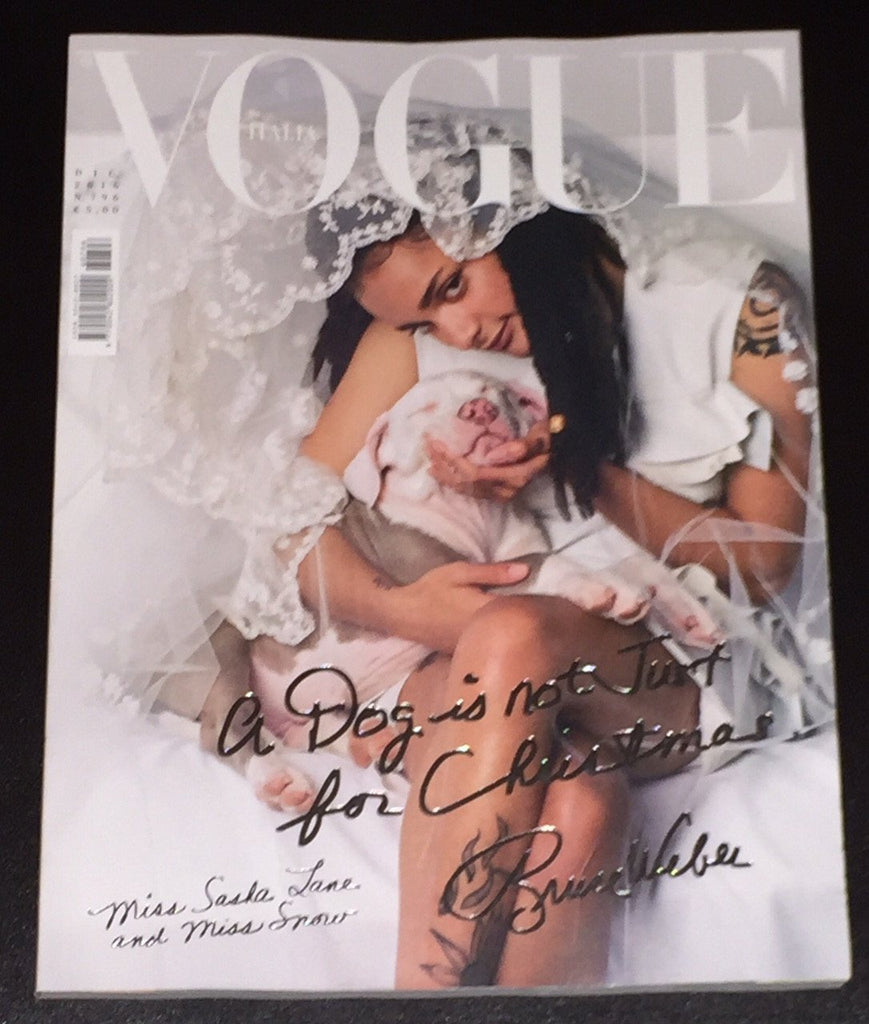 VOGUE Italia Magazine December 2016 BRUCE WEBER Sasha Lane Cover KIM KARDASHIAN - magazinecult