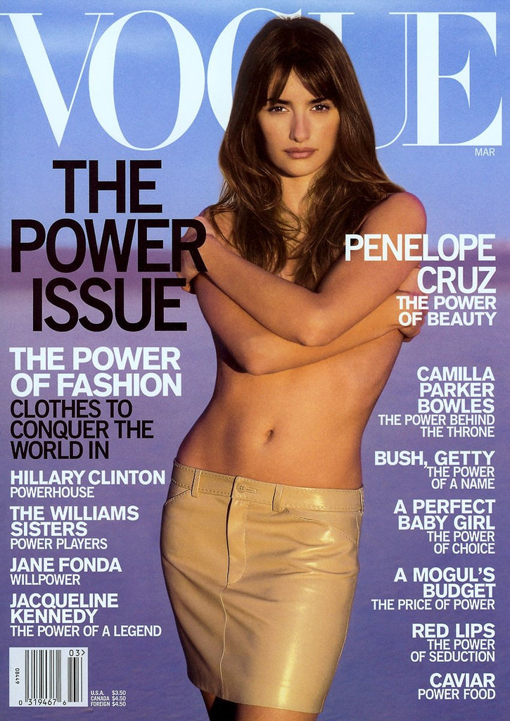 VOGUE US Magazine March 2001 PENELOPE CRUZ Gisele Bundchen JACQUELINE KENNEDY