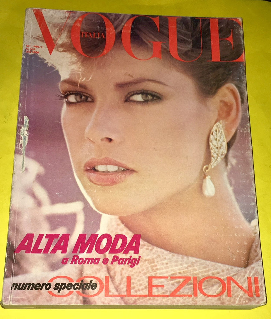 VOGUE ITALIA Magazine September 1980 DALMA CALLADO Susan Hess DAVID BAILEY