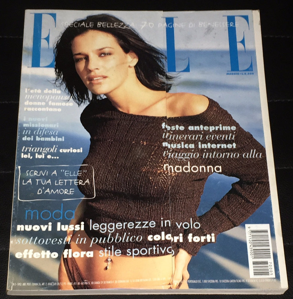 ELLE Italia Magazine May 1997 SHIRAZ TAL Ines Sastre BRIDGET HALL