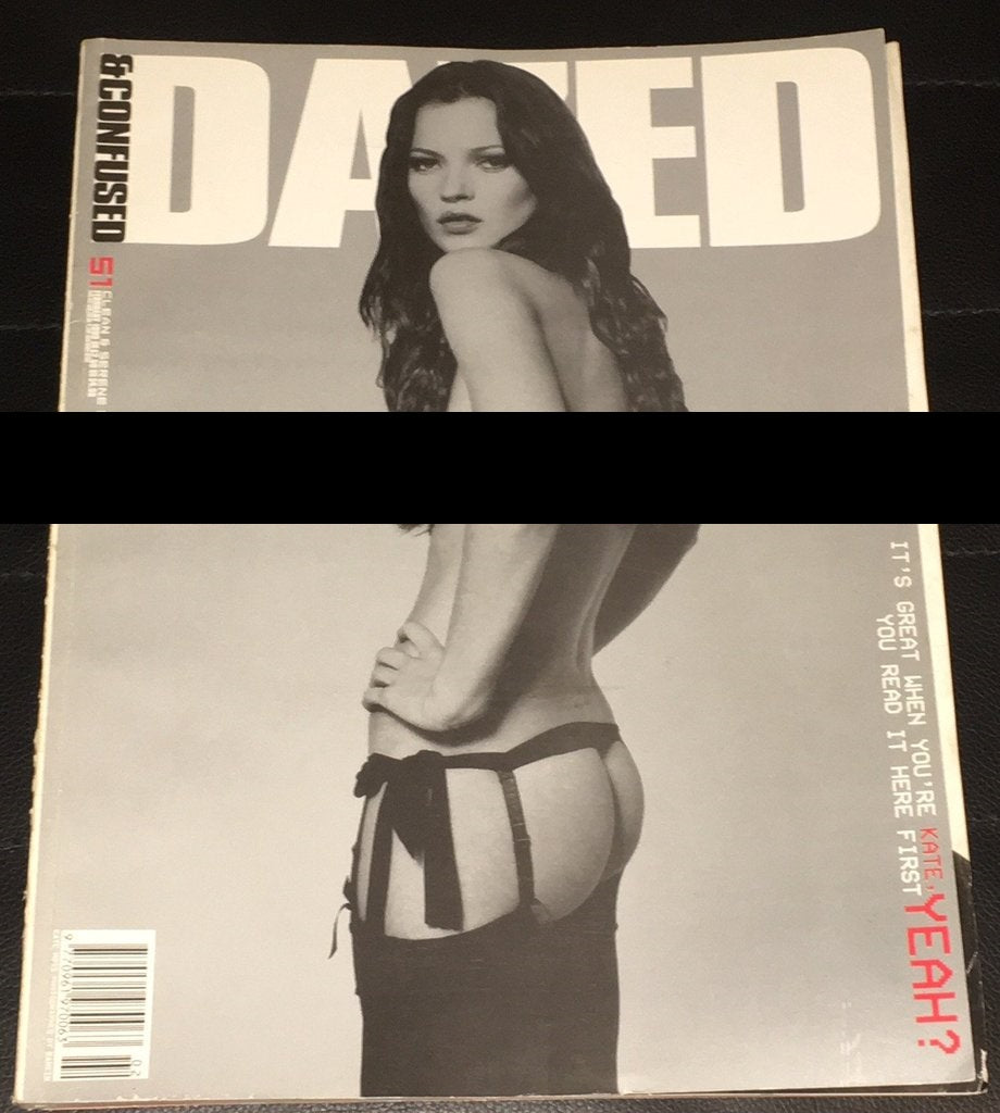 DAZED & CONFUSED Magazine February 1999 KATE MOSS Hannelore Knuts RANKIN
