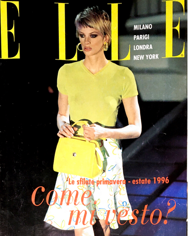 ELLE Italia Magazine KRISTEN MCMENAMY Kate Moss NADJA AUERMANN Supplement January 1996