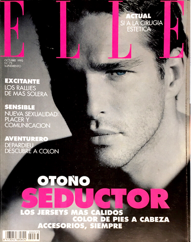 ELLE Spain Magazine October 1992 ALBERT DELEGUE by Dominique Issermann SUPPLEMENT