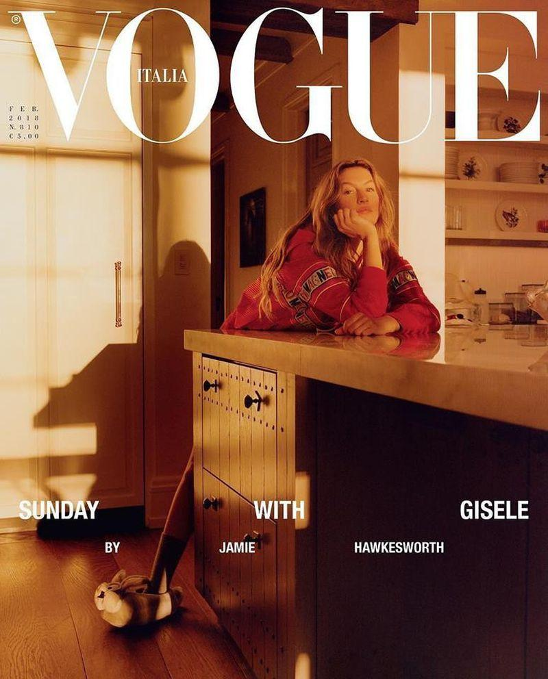 VOGUE Italia Magazine February 2018 GISELE BUNDCHEN Kiki Willems WALKER Sealed