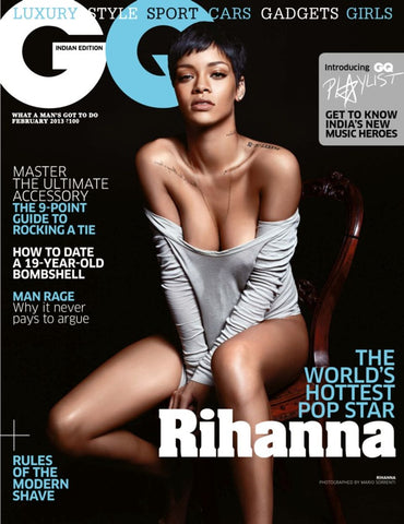 GQ India Magazine February 2013 RIHANNA by MARIO SORRENTI Brand New SEALED