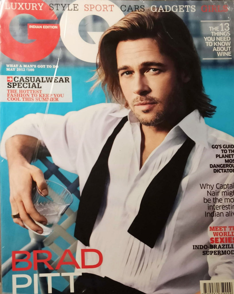 GQ India Magazine May 2012 BRAD PITT by MARIO SORRENTI Brand New SEALED