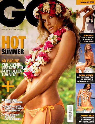 GQ ITALIA Magazine July 2006 MALLORY SNYDER Brooklyn Decker ANNE V Molly Sims