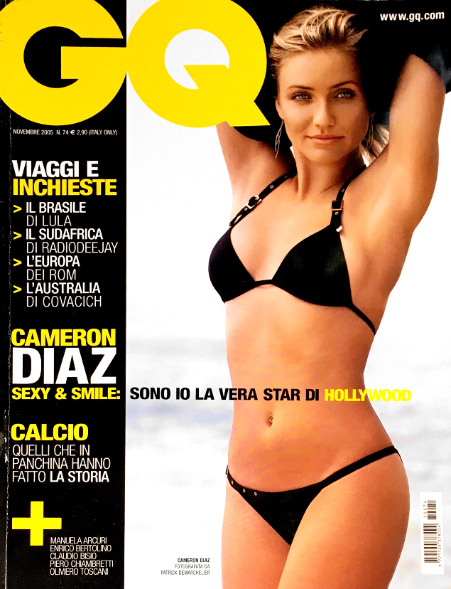 GQ Italia Magazine November 2005 CAMERON DIAZ Pete Doherty ELISA CUTHBERT