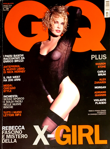 GQ Magazine Italia May 2003 REBECCA ROMIJN STAMOS Sharon Stone CARLA BRUNI