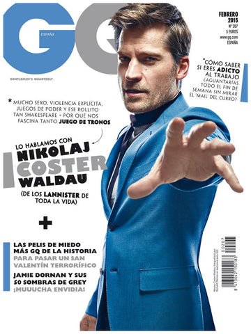 GQ Spain Magazine February 2015 NIKOLAJ COSTER WALDAU Jamie Dornan TOMMY DUNN