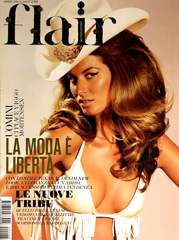 FLAIR Italia Magazine April 2004 GISELE BUNDCHEN Erin Wasson RIANNE TEN HAKEN