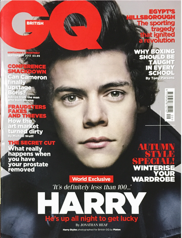 GQ British UK Magazine September 2013 HARRY STYLES One Direction