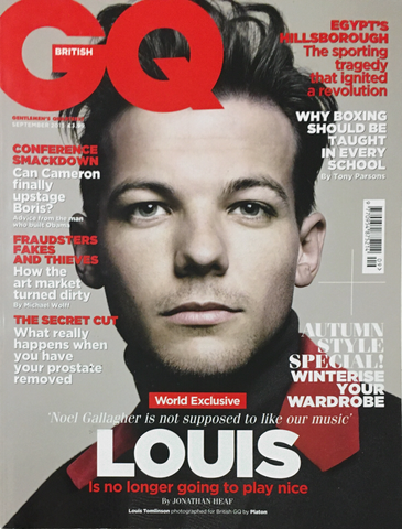 GQ British UK Magazine September 2013 LOUIS TOMLINSON One Direction